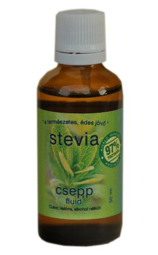 Stevia cseppek fluid 50 ml (syrup)