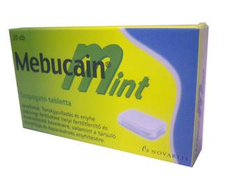 Mebucain Mint szopogató tabletta 20x -