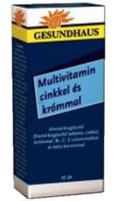 Multivitamin cinkkel és krómmal* régi neve: diabétesz vitamin