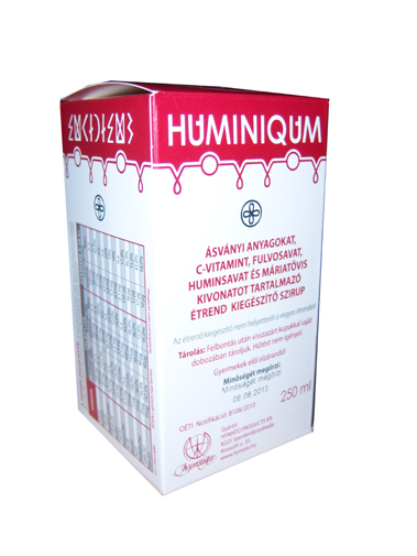 Huminiqum szirup 250ml * - </b><font color=red>JELENLEG nem rendelhető!</font>