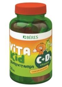 Béres VitaKid C+D3 cukormentes gumivitamin 50x