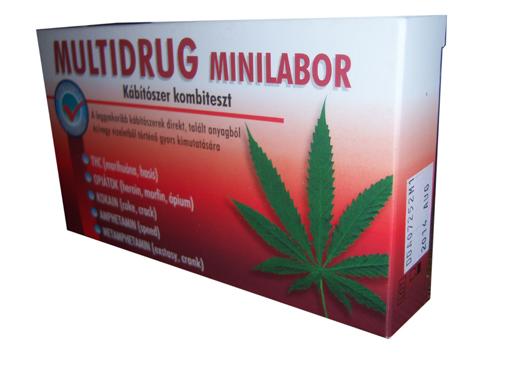 Multidrog minilabor (kábítószerfogyasztás kimutatása) 1x  *