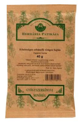 Közönséges orbáncfű virágos hajtás 40g Herbária *