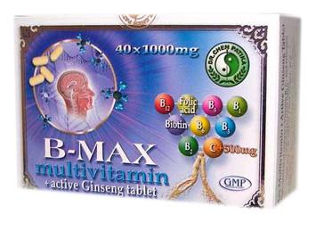B-Max multivitamin és aktív ginseng tabletta 40x dr Chen *