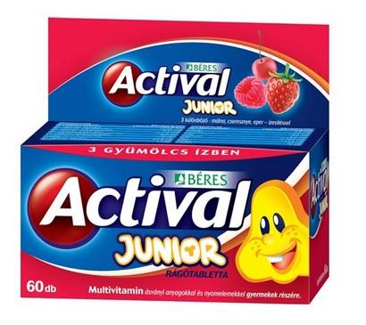 Actival Junior rágótabletta 60x *
