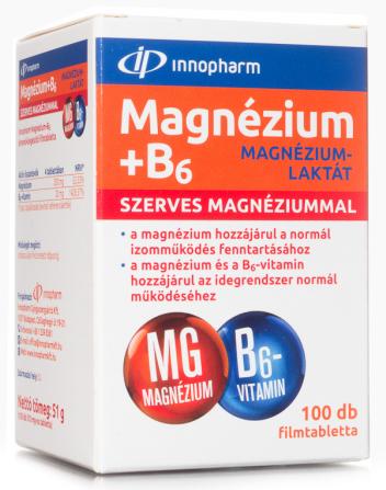 Magnézium-laktát + B6 filmtabletta 100x Innopharm
