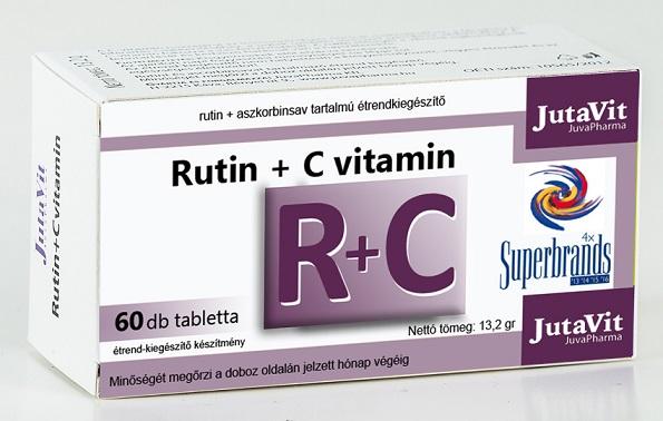 Rutin+ascorbin tabletta 50+10db Jutavit *