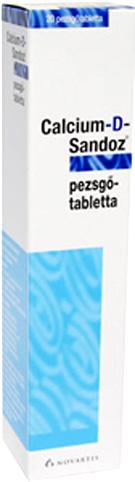 CALCIUM D SANDOZ pezsgőtabletta 20x *