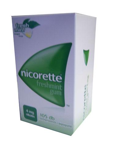Nicorette freshmint rágógumi 4mg 105x *