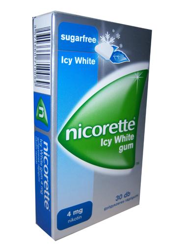 NICORETTE 4 mg gyógyszeres rágógumi (30x) ICY WHITE *