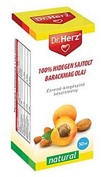 Sárgabarackmag hidegen sajtolt olaj  50ml Dr. Herz *