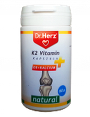 K2 vitamin+ D3+Kalcium kapszula 60x Dr. Herz *