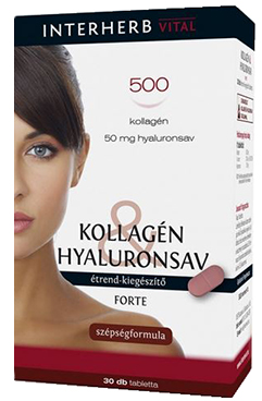 Kollagén&Hyaluronsav FORTE szépségformula 30x Interherb