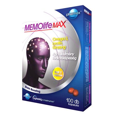 MEMOLife MAX kapszula 100x Pharmax