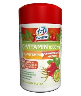 C vitamin 1000mg+D3+csipkebogyó rágótabletta 60x