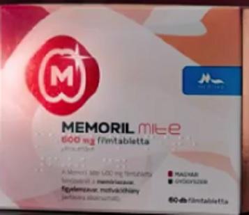 Memoril mite 600mg filmtabletta 30x
